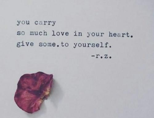 Amar a si é encontrar-se e não se deixar perder